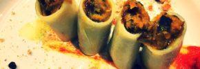 Vegan-Gourmet Paccheri ripieni di funghi Shiitake
